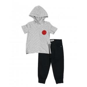 2 pc hooded t-shirt & jogger pants set (2t-4t)