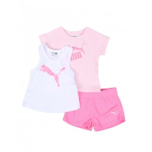 3 pc logo tee, racerback tank top & mesh shorts set (infant)