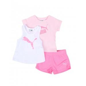 3 pc logo tee, racerback tank top & mesh shorts set (infant)