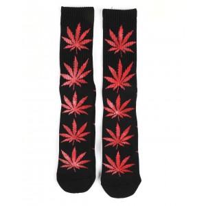 tie-dye leaves plantlife socks
