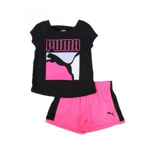 2 pc logo tee & tricot shorts set (infant)