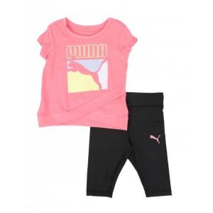 2 pc logo tee & capri leggings set (infant)