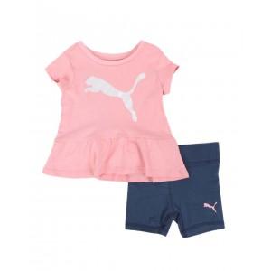 2 pc logo tee & bike shorts set (infant)