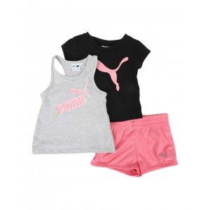 3 pc logo tee, racerback tank top & tricot shorts set (infant)