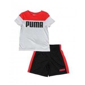 2 pc performance logo tee & shorts set (2t-4t)