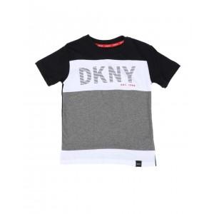 dkny logo color block tee (4-7)