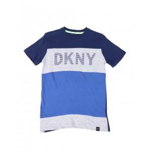 dkny logo color block tee (8-20)