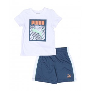 graphic injection pack tee & shorts set (2t-4t)