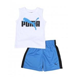 2 pc logo muscle tee & mesh shorts set (2t-4t)