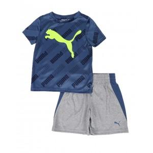 2 pc logo tee & shorts set (2t-4t)