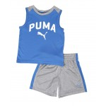 2 pc logo muscle tee & shorts set (2t-4t)