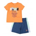 tfs pack graphic tee & shorts set (2t-4t)