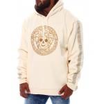 medusa fur hoodie pullover sweatshirt (b&t)