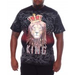 lion crowned king tee (b&t)