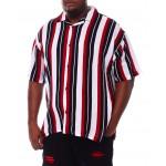 stripe printed shirt (b&t)