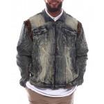 makobi leopard panel jacket (b&t)