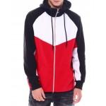 full zip block hoodie