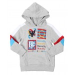 fleece embroidered patch pullover hoodie (4-7)