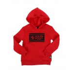 thick gel logo fleece pullover hoodie (4-7)