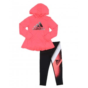 2 pc hooded top & legging set (2t-6x)