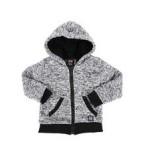 sherpa lined zip up hoodie (2t-4t)