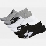 Mens adidas Trefoil 6-Pack Footie Socks