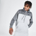 Mens Nike Sportswear Mixed Fleece Half-Zip Hoodie