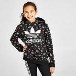 Kids adidas Originals Allover Trefoil Print Hoodie