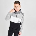 Boys adidas Originals Lock Up Colorblock Half-Zip Hoodie