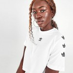 Womens adidas Originals Repeat Trefoil Crop T-Shirt