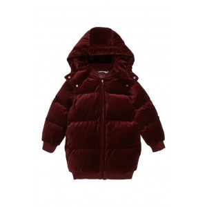 Ruby Velvet Puffer Jacket