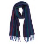 College Stripe Wool Scarf