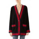 Ribbon Trim Tweed Cardigan