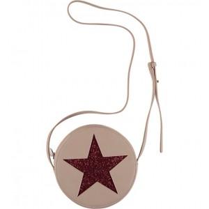 Glitter Star Faux Leather Crossbody Bag