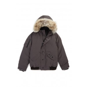 'Rundle' Down Bomber Jacket with Genuine Coyote Fur Trim