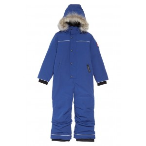 Baby Grizzly Snowsuit with Genuine Coyote Fur Trim