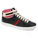 New Ace High Top Sneaker with Genuine Snakeskin Trim