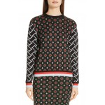 Hari Geo Jacquard Metallic Detail Sweater