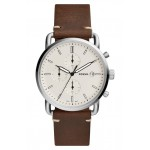 The Commuter Chronograph Leather Strap Watch, 42mm