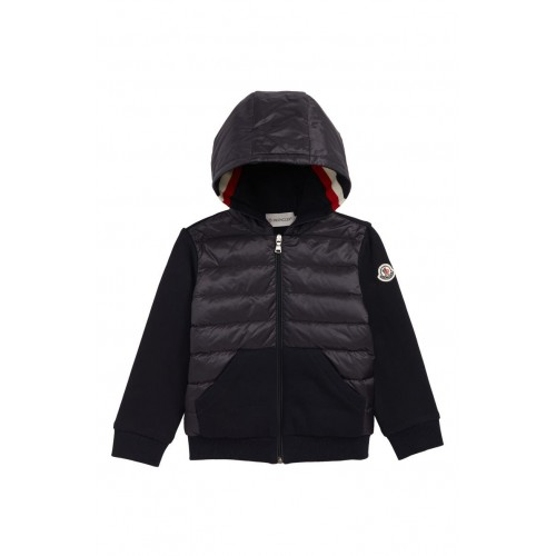 몽클레어 Knit Sleeve Hooded Down Jacket
