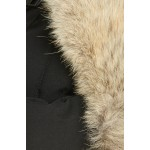 Down Fill Aviator Hat with Genuine Coyote Fur Trim