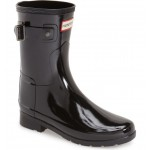 Refined Short Gloss Rain Boot