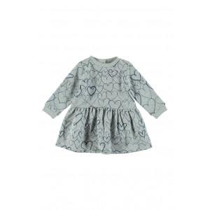 Bretta Heart Print Dress