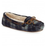 Cally Plaid Faux Fur Lined Slipper
