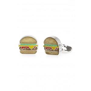 Glitter Hamburger Cuff Links