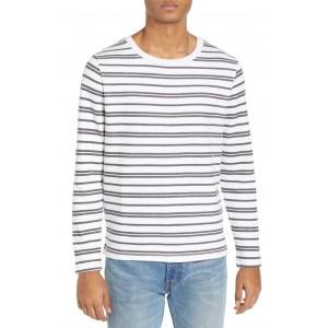 Trim Fit Variegated Stripe Crewneck Sweater