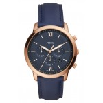 Neutra Chronograph Leather Strap Watch, 44mm