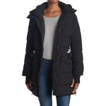 Belted Parka With Shearling Hood