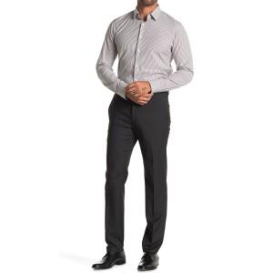 Stretch Texture Weave Slim Fit Flex Dress Pants