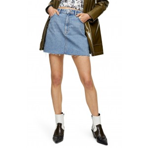 High Waist Denim Miniskirt
